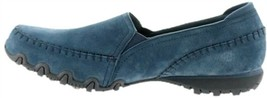 Skechers Relaxed Fit Suede Slip-On Shoes Alumni Navy 9W NEW A297182 - $50.47