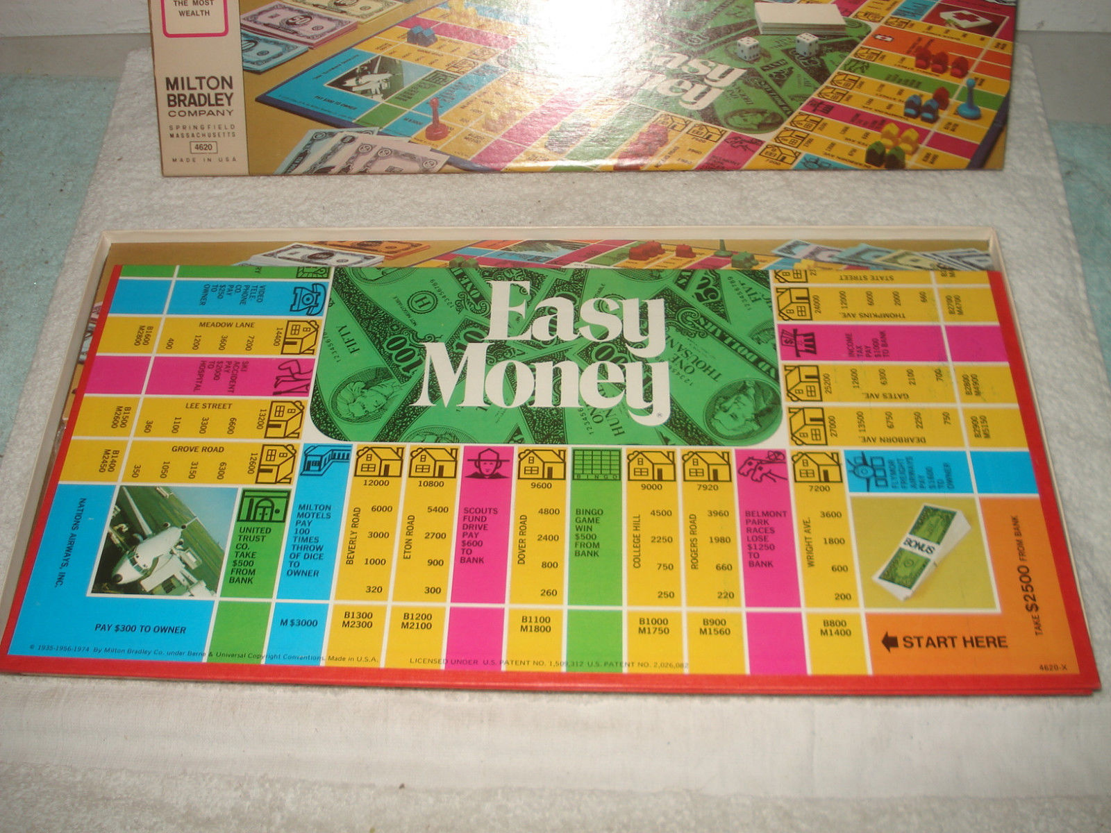 VINTAGE 1974 EASY MONEY BOARD GAME NOS UNUSED SEALED PARTS
