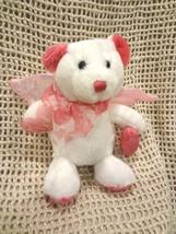 Dan Dee Collector's Choice Stuffed White Bear w/ Pink Wings & LOVE Heart~NWOT  - $9.48
