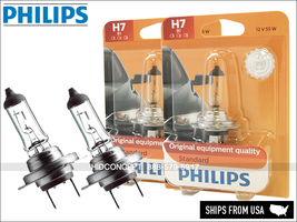 H7 Authentic PHILIPS Standard Halogen 12V Bulbs 12972B1 OEM Quality   Pack of 2 - $19.58