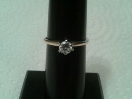 14k yellow gold solitaire Natural 0.25 Carat diamond ring, SIZE 6.  Nice... - $266.31