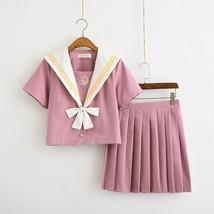 Japanese JK Schoolgirl Sailor Uniform Dress Cosplay Costume Pleated Plai... - $20.99