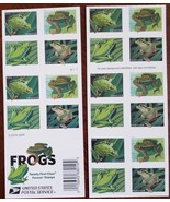 Frogs (USPS) 20 Forever Stamps digital illustrations of 4 North American... - $13.95