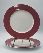 pfaltzgraff kenna red and white 10 1/4 inch replacement dinner plate Lot Of 3 - $19.79
