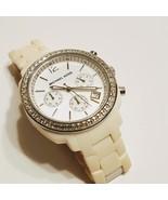 Michael Kors Chronograph White Acrylic Bracelet Ladies Watch - $99.00