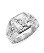 Genuine 925 Sterling Silver Men's Eagle Ring All / Any Size Made in USA - $34.80