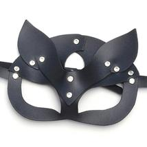 Women Mask Sexy Half Eyes Cosplay Face Cat Leather Mask Costume Masquerade Ball  image 3