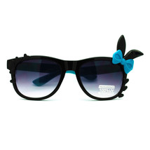 Bunny Ear Bow Trim Horn Rim Rectangular  Sunglasses - $9.95