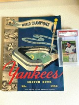 1952 Yankee Sketchbook W/ 1952 Bowman Phil Rizzuto Card - $133.65