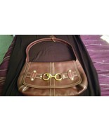 Coach Burgundy/Wine Leather Ergo Belted Flap Hobo Bag/Purse/Satchel E076... - $62.55