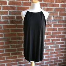 Sweet Journey Black High-Neck Tank with White Trim - Juniors Size XL - $10.66