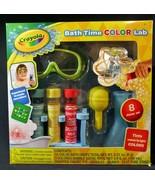 Crayola Bath Time Color Lab Kids Bathroom Toys Bubble Bath Fun SEALED - $12.38