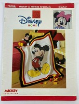 Leisure Arts Mickey and Minnie Afghans to Crochet Pattern Disney Home - $37.57
