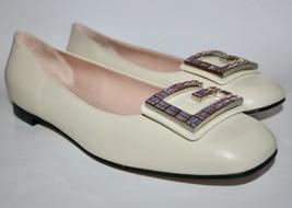 NIB Gucci Madelyn Crystal G Leather Flats US 12 EU 42 - $395.01