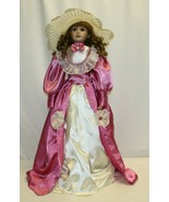 """Vintage 27"""" Porcelain Doll – Brown Hair and Eyes Contoured Body - $19.79"""