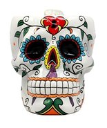Atlantic Collectibles White Day of The Dead Love Locked Sugar Skull Mug ... - $21.77
