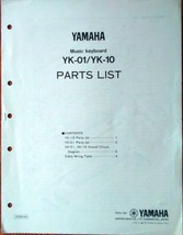 Yamaha YK-01 YK-10 Original Service Manual Parts List Circuit Diagram Bo... - $24.74