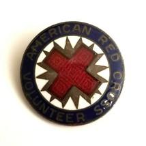 VTG Collectible Pin - American Red Cross Volunteer Brooch Enamel Blue Wh... - $19.31