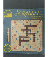 1982 Scrabble Deluxe Edition Crossword Game w/ Turntable Base Complete - $49.49