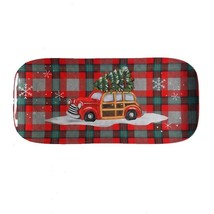 "Christmas Station Wagon Tree Melamine Serving Platter Tray 6.75""x14.75"" ... - $24.63"
