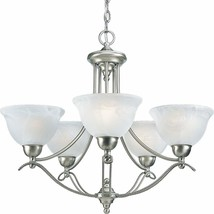 Avalone Collection Brushed Nickel Hanging Chandelier Light Kitchen P4275... - $337.66