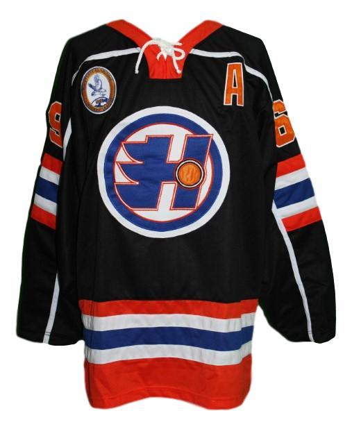 Glatt  69 halifax highlanders goon movie retro hockey jersey black  1