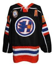 Custom Name # Halifax Highlanders Retro Hockey Jersey Black Glatt #69 Any Size image 1