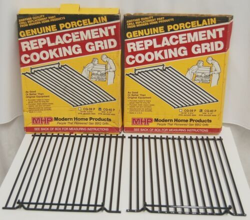MHP CG40P Genuine Porcelain Replacement Cooking Grid Set of 2 Color Black