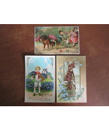 Antique Birthday and Best Wishes Postcards with Embossing & Gilt Work, C... - $10.99