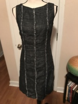 Anne Klein Black Tweed Princess Seamed Dress. Sz 4 - $14.99