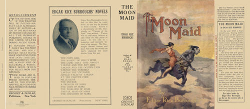 Burroughs, Edgar Rice. THE MOON MAID facsimile dust jacket  1st Grosset Edition