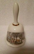 Vintage 1978 Exclusive Avon Winter Christmas Cottage Bell - Made In Japan - $6.93