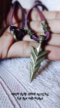 Genuine leather necklace Arrow Pendant Archery Archer's Gift Men Women N... - $24.66