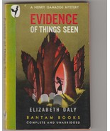 Evidence of Things Seen - Elizabeth Daly 1945 mystery 1st pb - $11.00