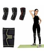 Knee Compression Sleeve Support (M, Green Pattern) - $9.75