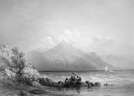 MIDDLE EAST Mount Casius View from Seleucia - 1854 Antique Print by BART... - $26.01