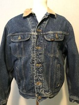 Men's Vtg Blue Denim LEE STORM RIDER Blanket Lined Jean Trucker Jacket C... - $92.22