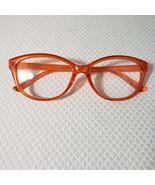 New Betsey Johnson +2.00 Cat Eye Reading Glasses Orange Frame Pinup Retro - $37.09