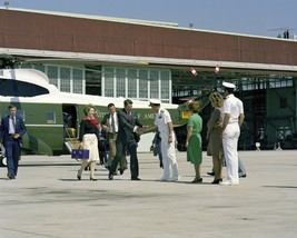 President Ronald Reagan and Nancy exit Marine One helicopter in CA Photo... - $8.81+