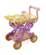 Disneys Princess Belle Enchanted Talking Tea Cart Mrs. Potts and Chip - $126.42