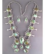 Navajo Natural Royston Turquoise SQUASH BLOSSOM... - $4,425.00