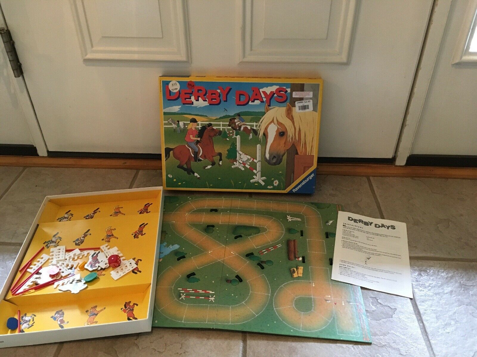 1994 Derby Days Board Game,  Ravensburger ages 6+ Discovery Toys 100% COMPLETE