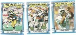 1987 Topps 1000 Yard Club Football cards lot of 3 VG Mark duper, Eric Di... - $0.03