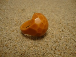 Vintage Butterscotch Bakelite Ring! Size 3 1/2; Overdyed Pentagon Facete... - $39.59