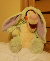 """Disney Store Tigger Green Bunny Rabbit  Easter Outfit & egg12"""" Plush pre-owned - $74.25"""