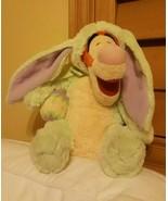 "Disney Store Tigger Green Bunny Rabbit  Easter Outfit & egg12"" Plush pre... - $74.25"