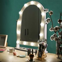 LUXFURNI Hollywood Lighted Vanity Makeup Mirror w/ 13 LED Lights, Touch ... - $50.99