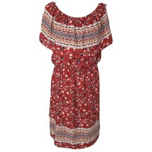Style & Co Womens Medium M Dress Floral Peasant Style Off-Shoulder Red M... - $29.67
