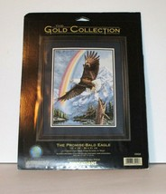 Dimensions Gold Collection THE PROMISE BALD EAGLE Counted Cross Stitch 3... - $51.75