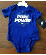 NIKE Baby Boy Bodysuit PURE POWER Royal BLUE Swoosh 3M 3 Months NWT - $16.50